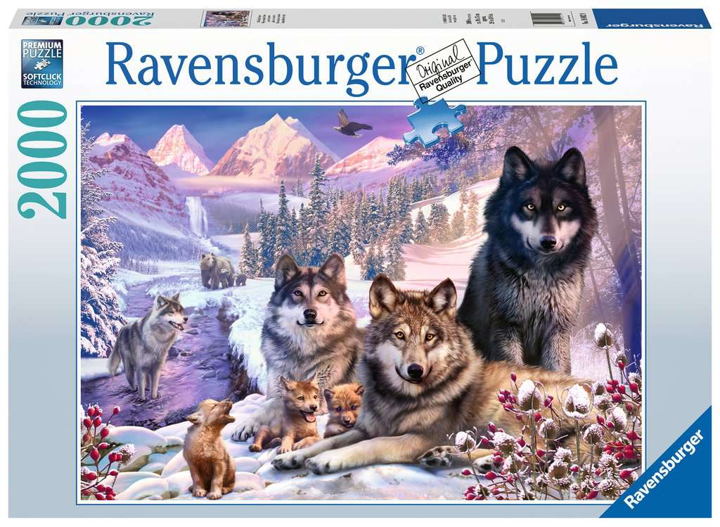 Ravensburger - Puzzle 2000 - Wolves in the Snow (10216012)
