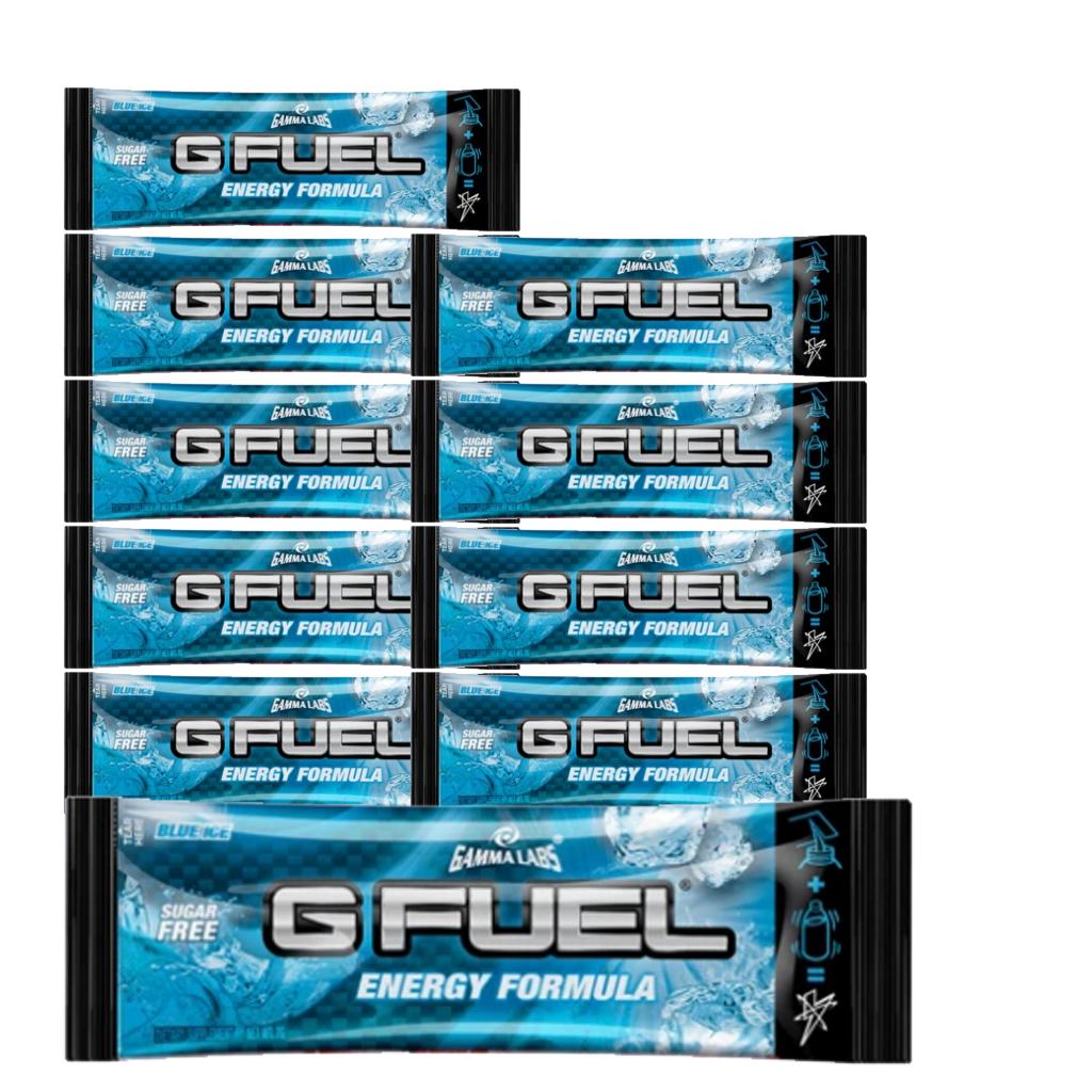 G Fuel - Blue Ice Flavour Sachets - 10 Servings - Bundle