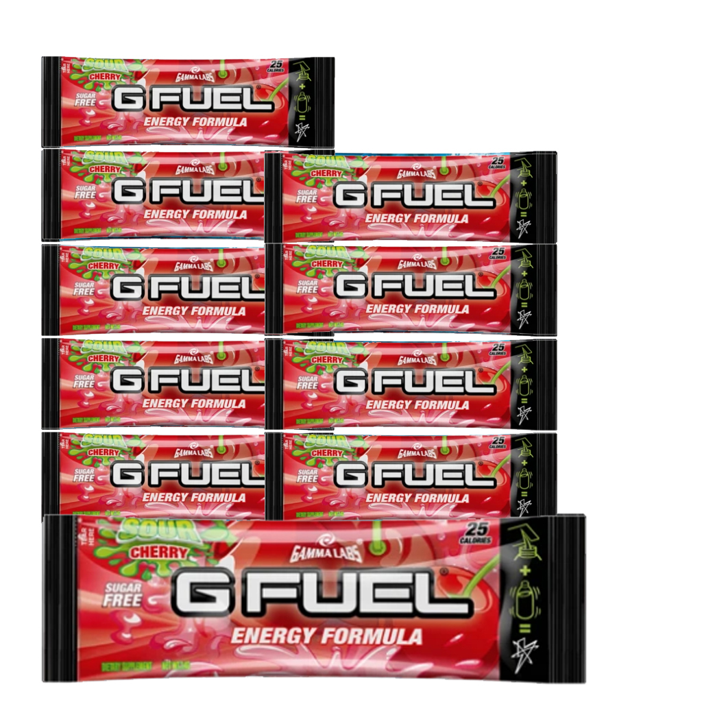 G Fuel - Sour Cherry Sachets - 10 Servings - Bundle