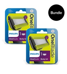 Philips - 2x Oneblade Body kit QP610/50 - Bundle
