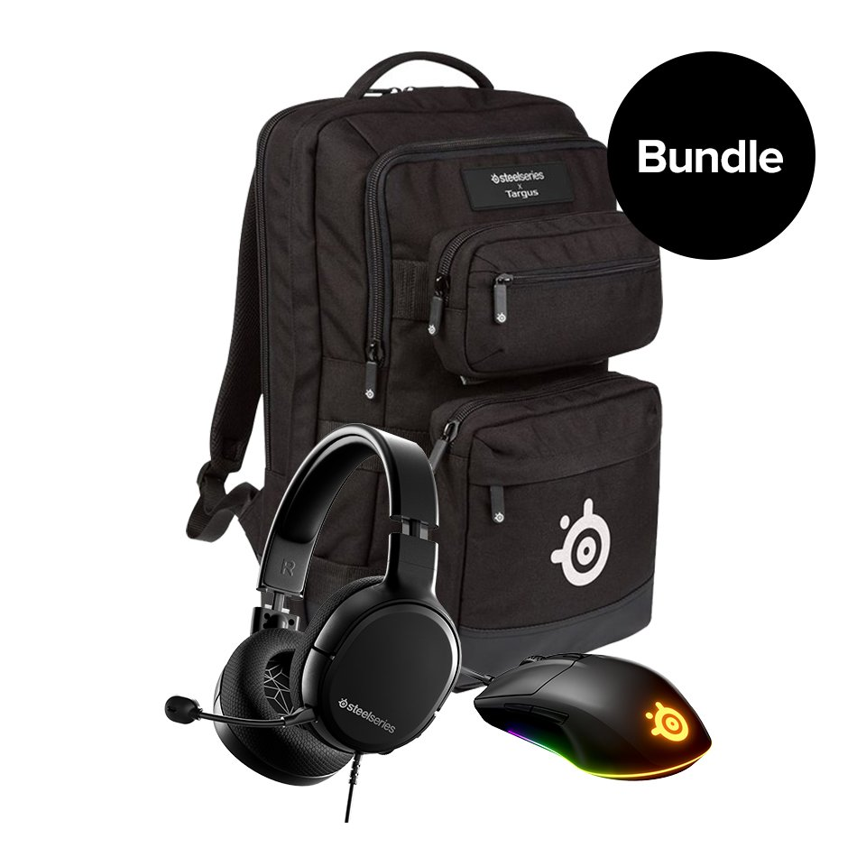 Steelseries - Arctis 1 - Rival 3 - Backpack -Bundle