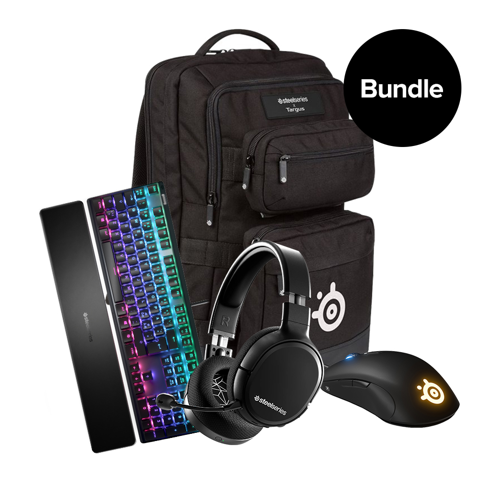 Steelseries - Arctis 1 Wireless - Sensei Ten - Apex 7 - Backpack -Bundle