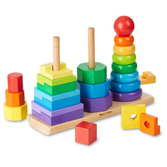 Melissa & Doug - Geometric Stacker (10567)