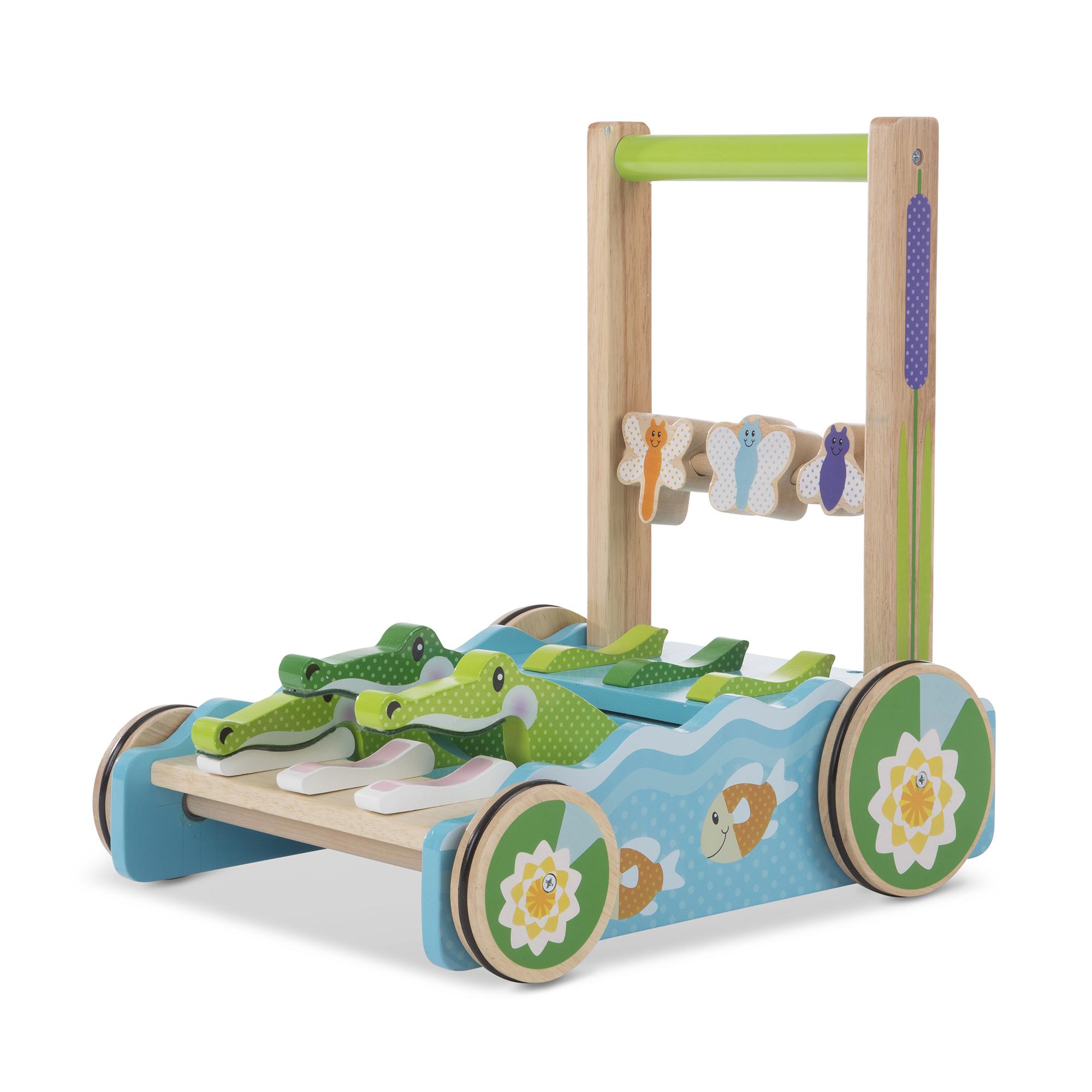 Melissa & Doug - First Play - Chomp & Clack Alligator Push Toy (13129)