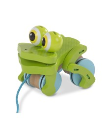 Melissa & Doug - First Play - Frolicking Frog Wooden Pull Toy (13205)