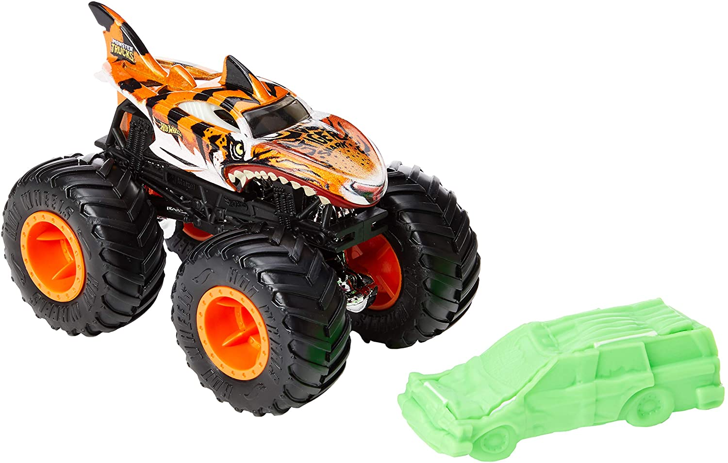 Buy Hot Wheels Monster Trucks 1 64 Shark Wreak Tiger Shark Gnj61