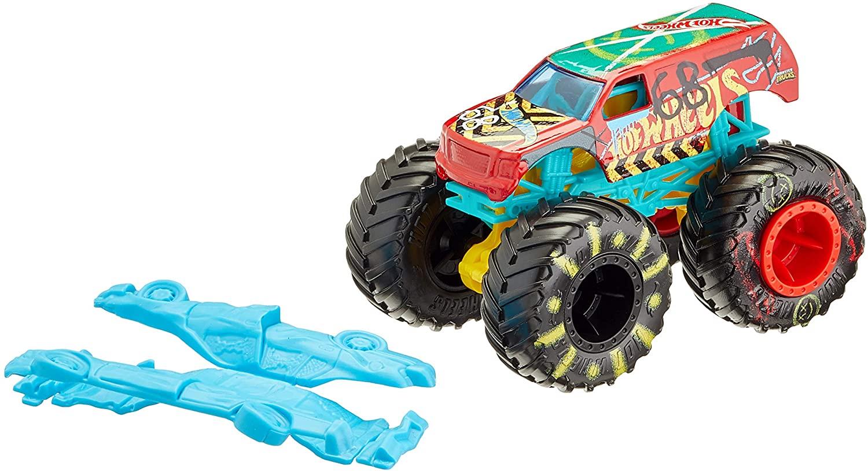 Buy Hot Wheels Monster Trucks 1 64 Town Hauler Demo Derby Gnj62