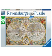 Ravensburger - Puslespil 1500 - Historisk verdenskort (10216381)