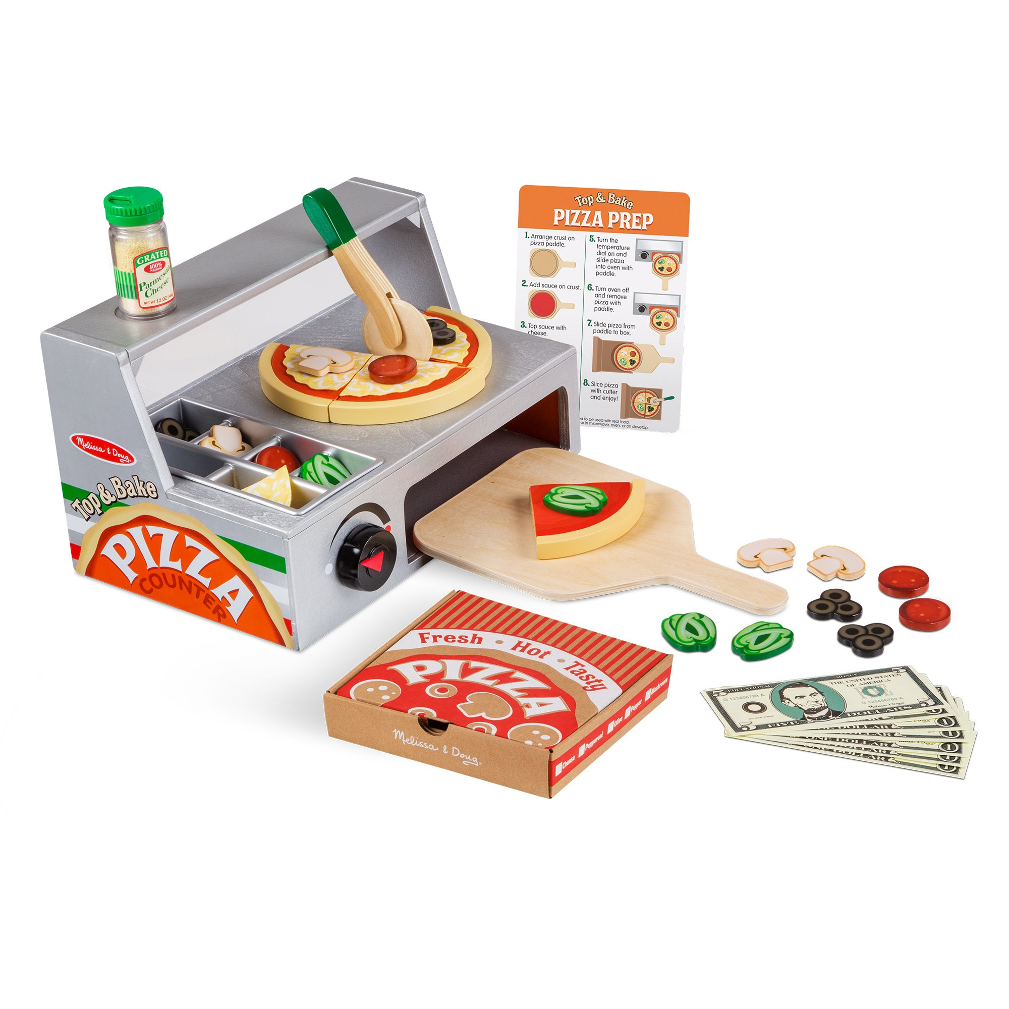 Melissa & Doug - Top & Bake Pizza Counter Play Set (19465)