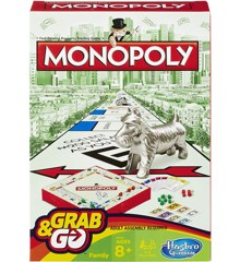 Hasbro Gaming - Monopoly Grab and Go (Rejsespil)