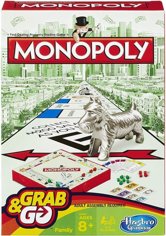 Hasbro Gaming - Monopoly Grab and Go (Rejsespil)