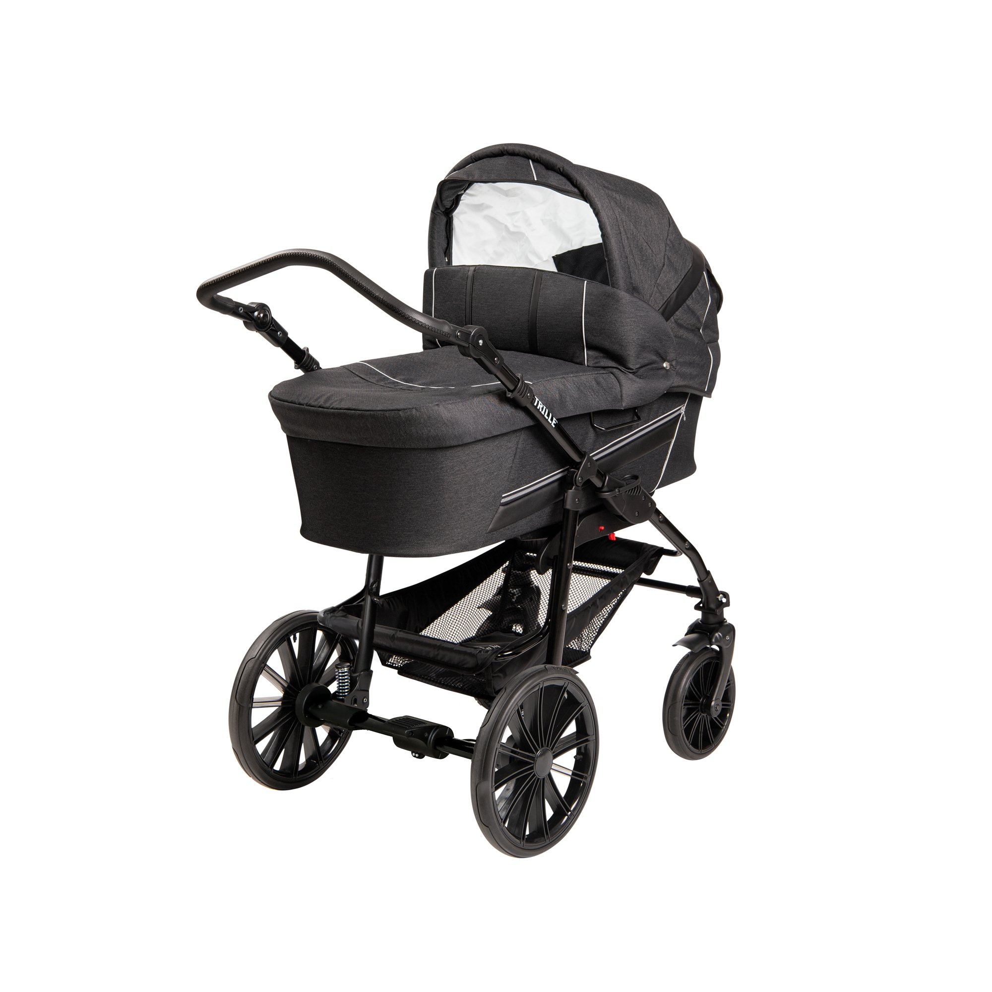 TRILLE - Dream Light Pram - Black Alligator