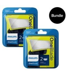 Philips - OneBlade Replaceable Blades 2x2 Pack - QP220/50 - Bundle