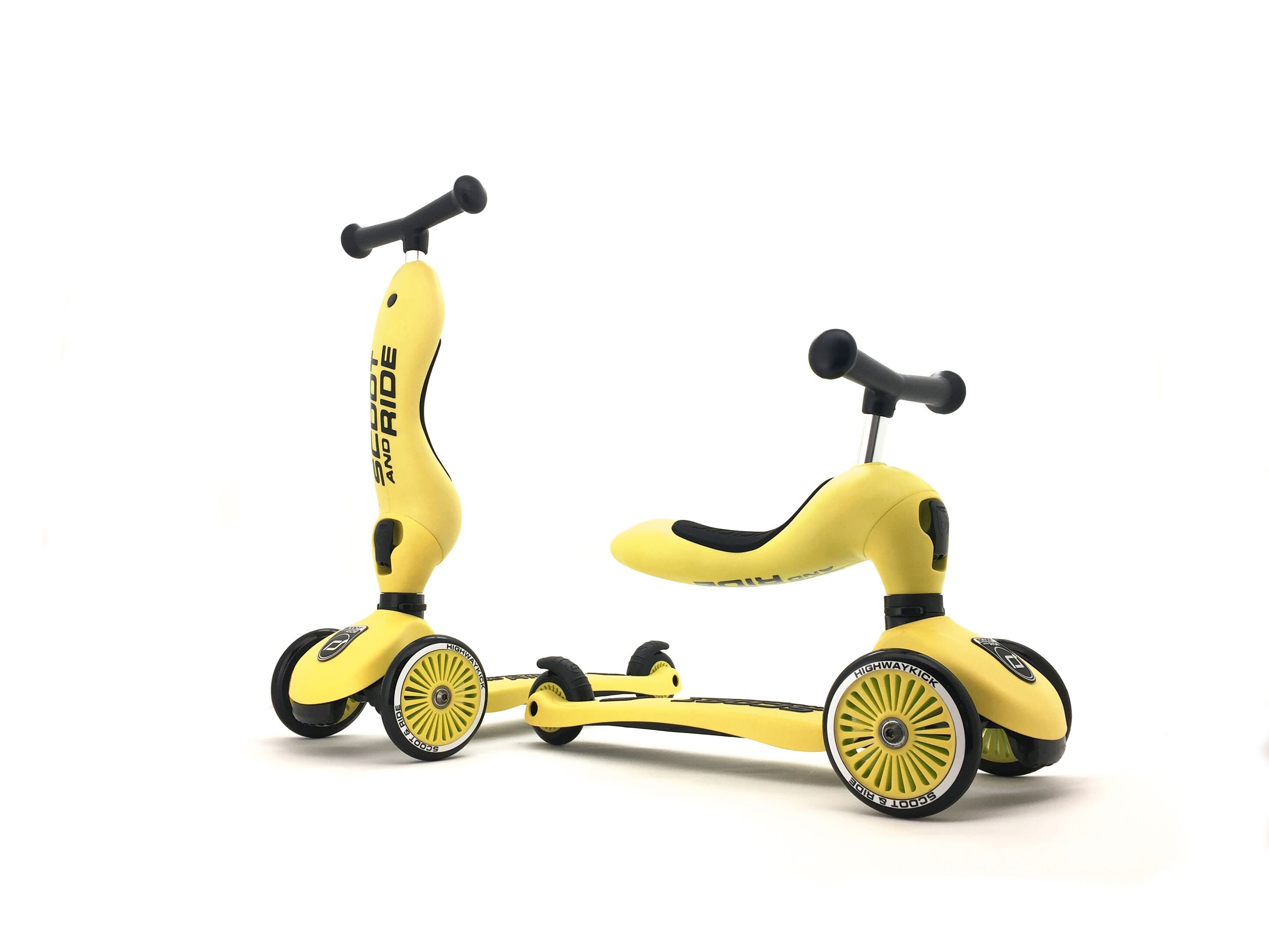 Scoot and Ride - 2 in 1 Balance Bike/ Scooter - Lemon (160629-11)