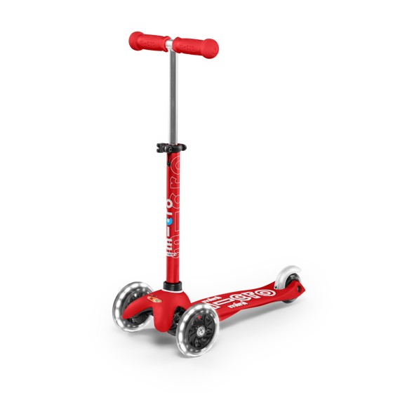 Micro - Mini Deluxe LED Scooter - Red (MMD052)