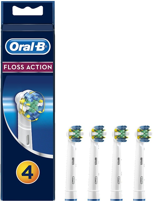 Oral-B - FlossAction Toothbrush Head (4 Pcs) (E)