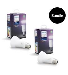 Philips Hue - E27 2x Single bulb -  White & Color Ambiance - Bluetooth - Bundle
