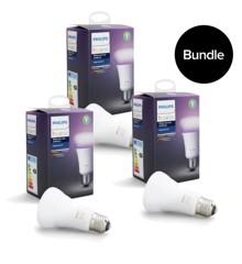 Philips Hue - E27 3x Single bulb -  White & Color Ambiance - Bluetooth - Bundle
