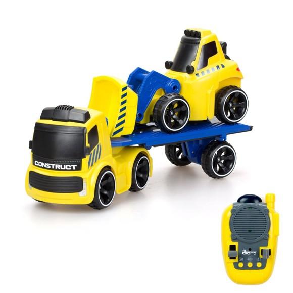 Silverlit - Tooko - Trailer Truck w. Free Wheel Bulldozer (81487)