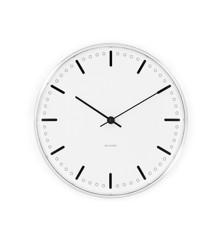 Arne Jacobsen - City Hall Vægur 29 cm - Hvid