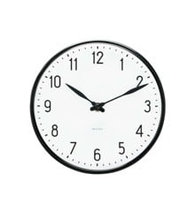 Arne Jacobsen - Station Wall Clock Ø 29 cm - Black (43643)