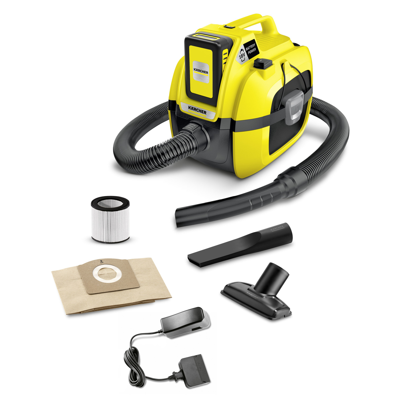 Kärcher - WD1 Compact Multi-Purpose Vacuum Cleaner Incl. 18V battery