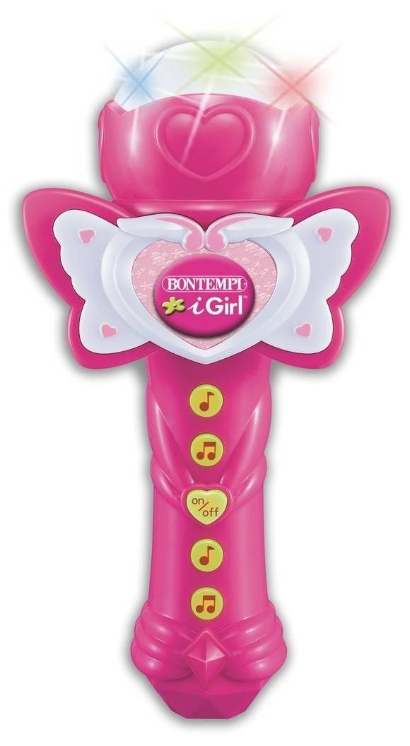 Bontempi - Karaoke Mikrofon - Pink m. 25 Demosange (412071)
