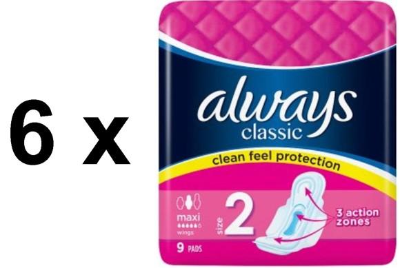 Always - 6x Classics 9's Maxi w. Wings