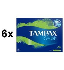 Tampax - 6x Compak Super 18's