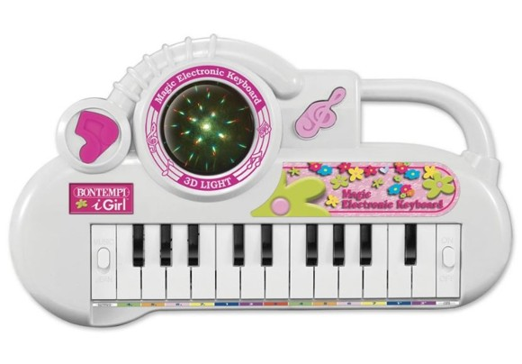 Bontempi - Keyboard 22 keys white/pink, 31 cm (122271)