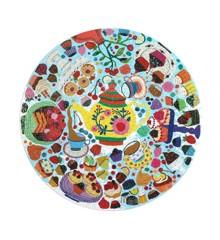 eeboo - Rundt puslespil - Tea Party, 500 brikker (EPZFTEA)