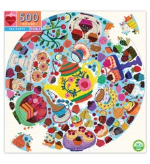 eeboo - Round Puzzle - Tea Party, 500 pc (EPZFTEA)