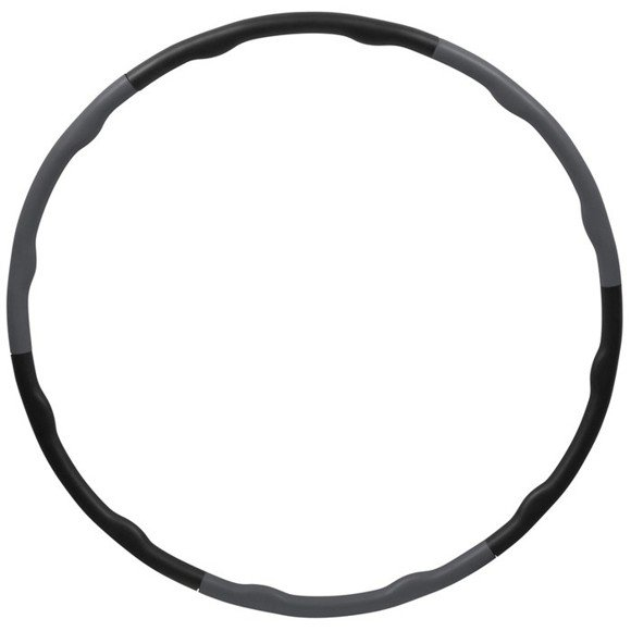 Inshape - Fitness Hulahop Ring Ø 100 cm - Black/Grey (17555)
