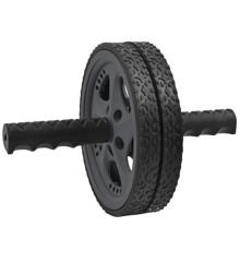 Inshape Fitness - Mavetræningshjul Ø 18,5 cm - Sort/Grå