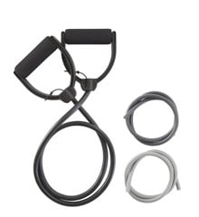 Inshape - Fitness Exercise Elastic With Regulatory Resistance 3 pcs - Black/Light Grey (17564)
