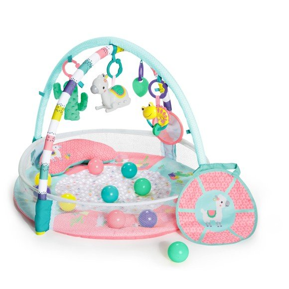 Bright Starts - Rounds Of Fun Baby Infant Activity Play Gym, Pink (12063)
