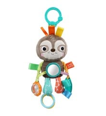 Bright Starts - Take-Along Activity Rattle, Sloth (12274)