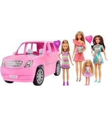 Barbie - Legesæt m. 4  Dukker og Limo (GFF58)