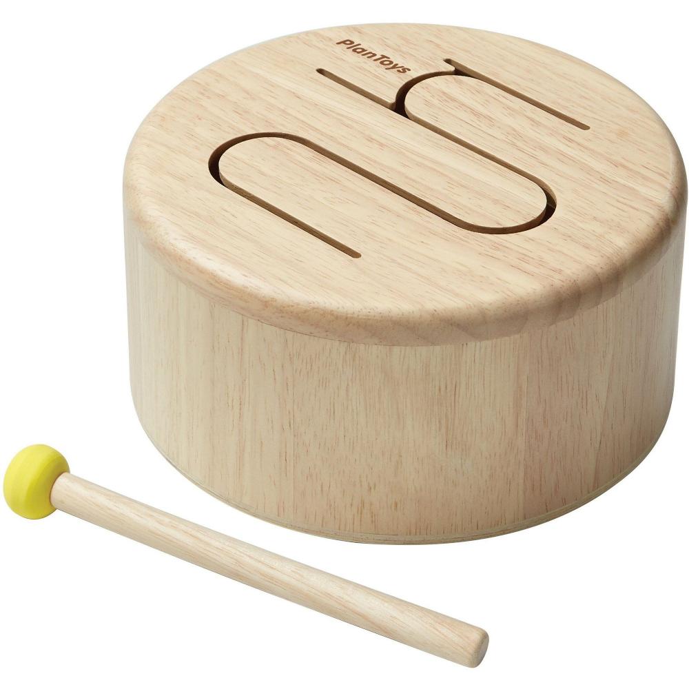 Plantoys - Solid Drum-Natural (6439)