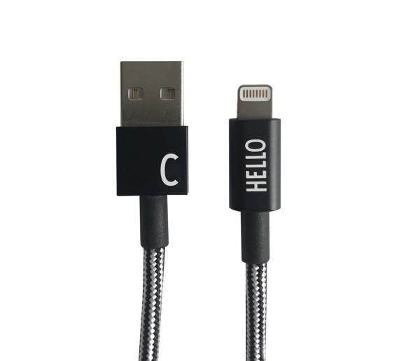 Design Letters - Lightning Cable 1 Meter C - Black (60201010C)