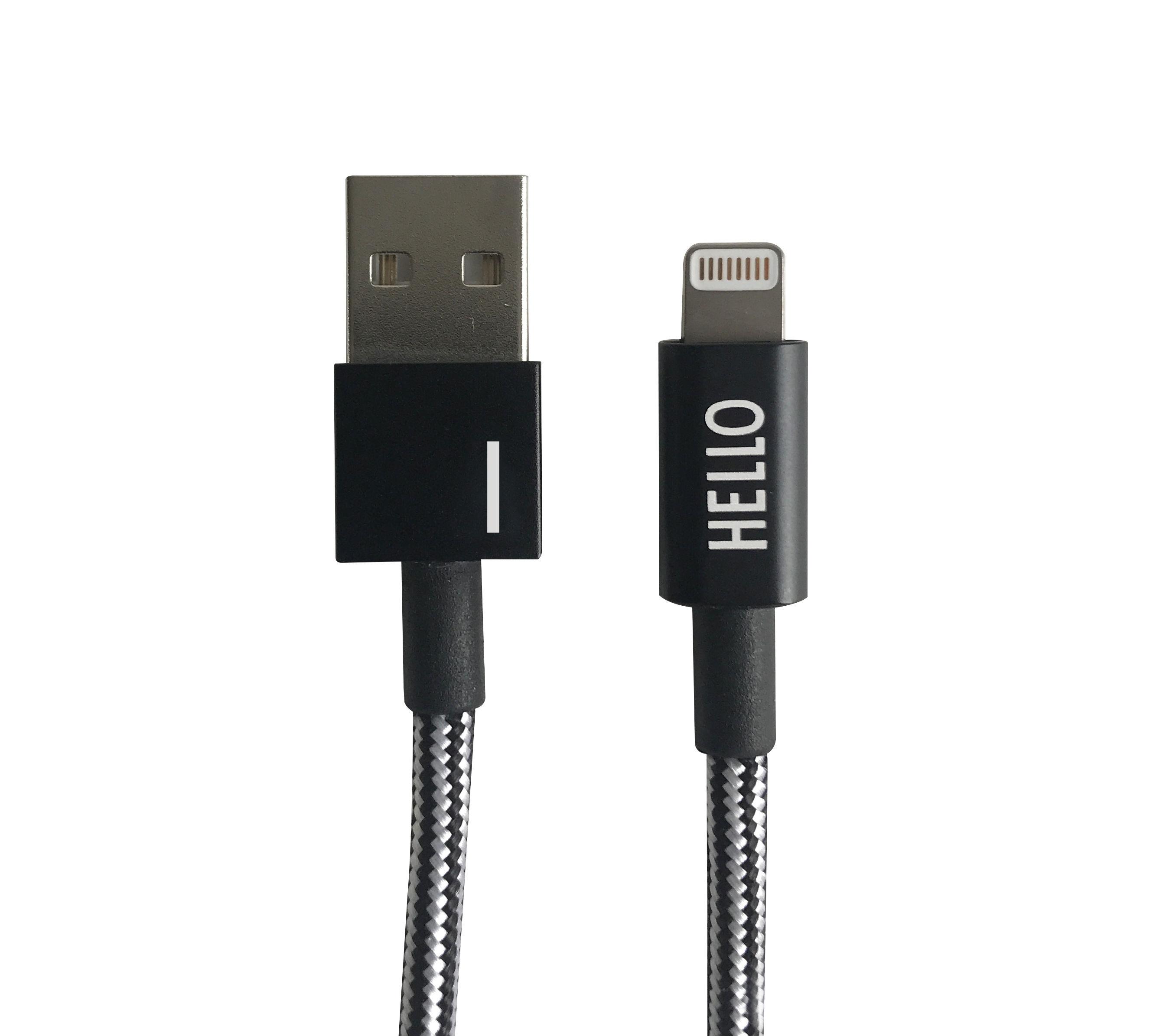 Design Letters - Lightning Cable 1 Meter I - Black (60201010I)