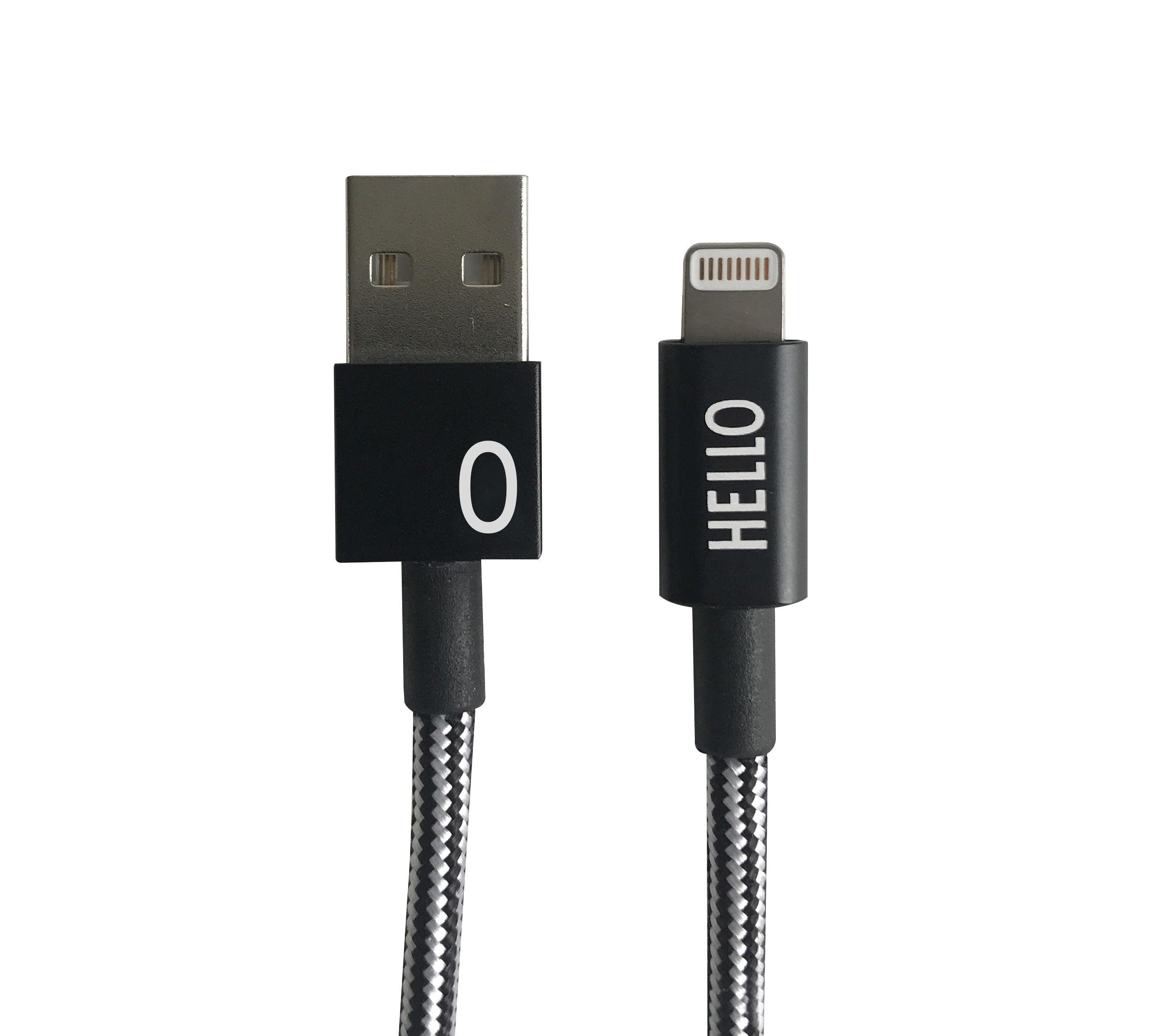 Design Letters - Lightning Cable 1 Meter O - Black (60201010O)