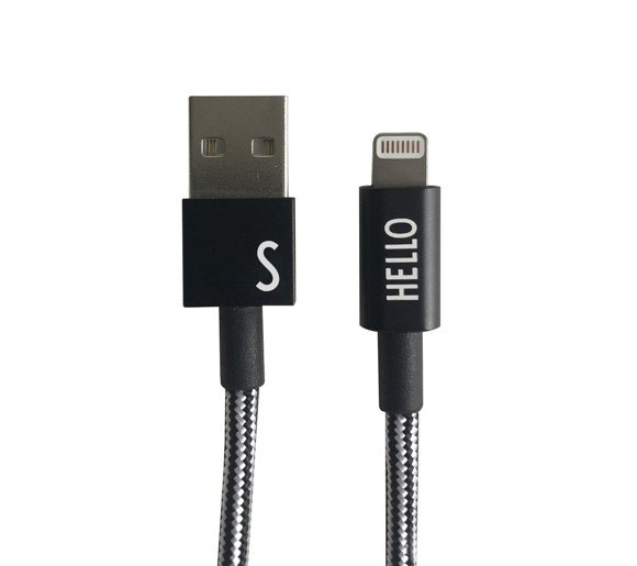 Design Letters - Lightning Cable 1 Meter S - Black (60201010S)