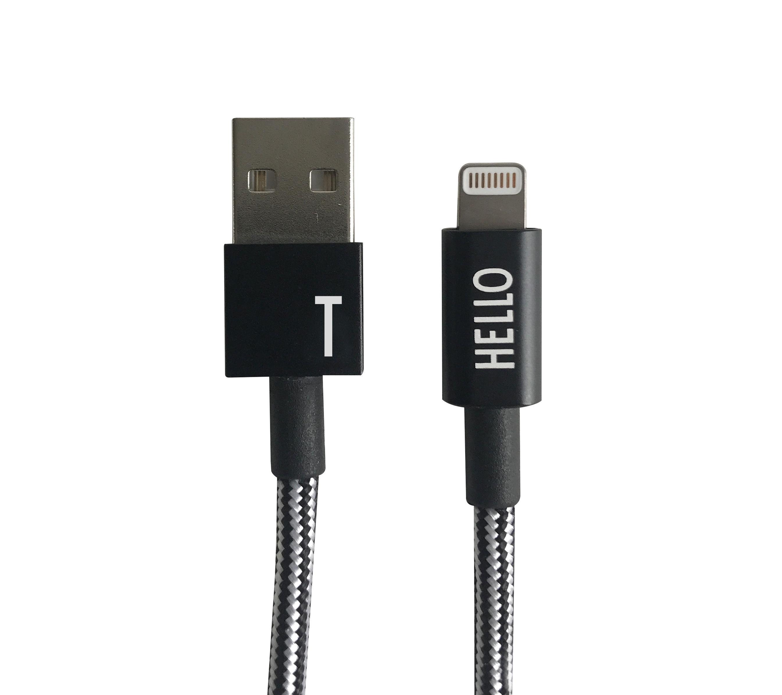 Design Letters - Lightning Cable 1 Meter T - Black (60201010T)