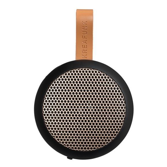 KreaFunk - aGO Bluetooth Højtaler - Sort/Rose Guld Grill