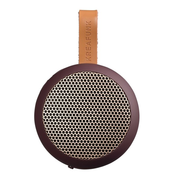 KreaFunk - aGO Bluetooth Speaker - Plum/Rose Gold Grill (Kfwt35)