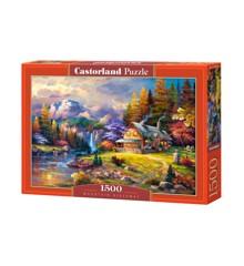 Castorland - Puslespil 1500 brikker - Hytte i bjergene