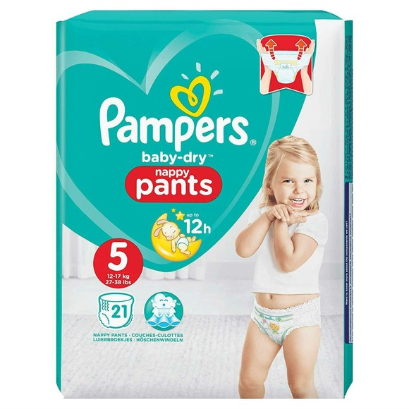 Pampers - Dry Nappy Pants Size 5 - 12-17 kg