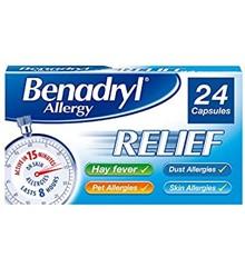 Benadryl - Allergy Relief Capsules 24 Pcs