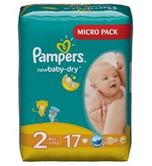 Pampers - Dry Nappy  Str.  2 - 3-6 kg